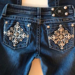 Miss me girls skinny bling jeans size 14